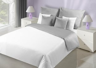 Voodipesukomplekt 2-osaline NOVA Collection White Silver, 135x200 cm