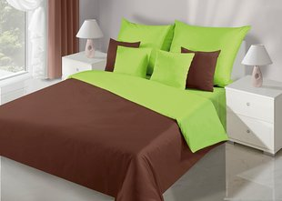 Voodipesukomplekt 3-osaline NOVA Collection Brown Green, 200x220 cm