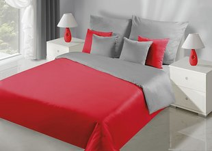 Voodipesukomplekt 3-osaline NOVA Collection Red Silver, 200x200 cm