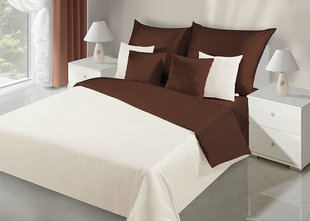Voodipesukomplekt 2-osaline NOVA Collection Cream Brown, 155x220 cm
