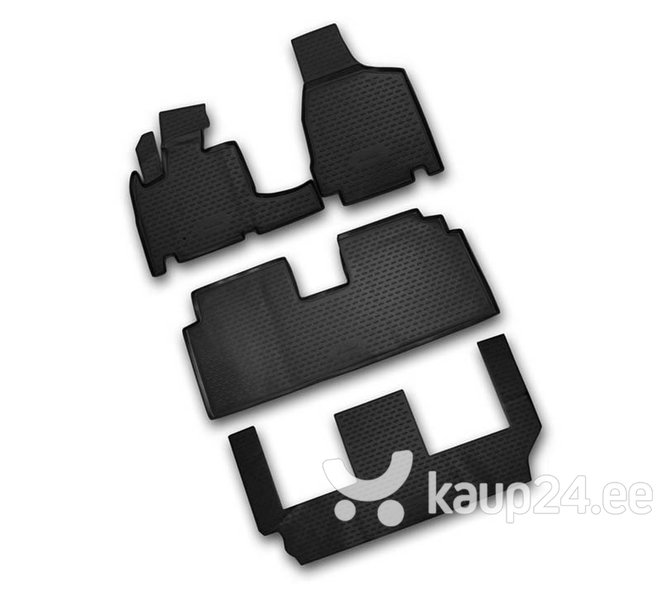 Kummimatid 3D CHRYSLER Grand Voyager RT, 2008-> 4pcs. 3 row. /L09003