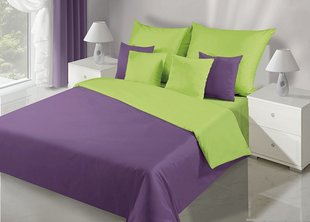 Voodipesukomplekt 3-osalines NOVA Collection Violet Green, 200x220 cm
