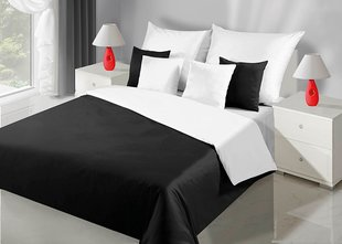 Voodipesukomplekt 2-osaline NOVA Collection White Black, 135x200 cm