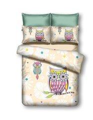 Voodipesukomplekt 3-osaline Owls Collection Summer Story, 200x220 cm