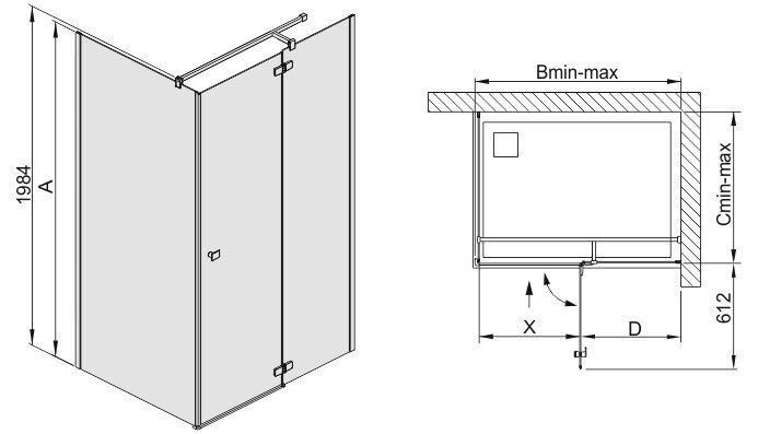 Nurga dušikabiin Sanplast Free Line KNDJ2/Free 80x90s. hind