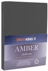 Kummiga voodilina DecoKing jersey Amber Dimgray, 160x200 cm hind ja info | Voodilinad | kaup24.ee