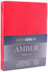 Kummiga voodilina DecoKing jersey Amber Red, 90x200 cm