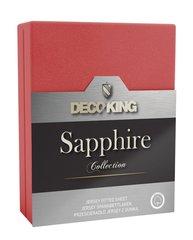 Kummiga voodilina DecoKing jersey Sapphire Collection 160x200 cm, punane