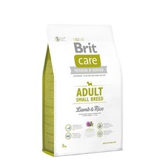 Brit Care Adult Small Breed Lamb & Rice 3 kg hind ja info | Kuivtoit koertele | kaup24.ee