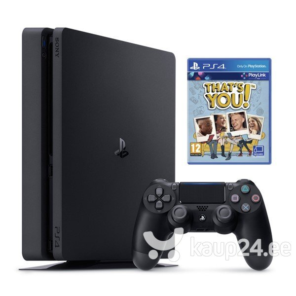 6eff7d69be1 MÄNGUKONSOOL SONY PLAYSTATION 4 (PS4) SLIM, 500 GB + THAT`S YOU HIND ...
