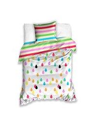 Laste voodipesukomplekt 2-osaline, värvilised veepiisakesed