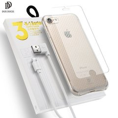 Dux Ducix 3 in 1 Set / Ultra Back Case 0.3 mm / Tempered Glass 9H / Lightning Data Cable 90 cm White / For iPhone 6 Plus / 6S Plus