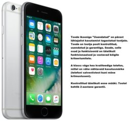 Mobiiltelefon Apple iPhone 6 16GB, Hall (Uuendatud) A-klass