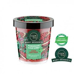 Puhastav kehakoorija Organic Shop Body Desserts Pomegranate Sugar Sorbet 450 ml