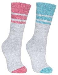 Naiste sokid Trespass Hadley, 2 tk, hall/roosa/sinine