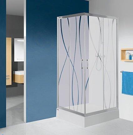 Nurga dušikabiin Sanplast TX KN/TX5b 80x100s, profiil matt hõbedane, läbipaistev klaas W0 hind