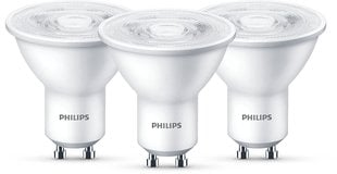 LED pirn Philips, GU10, 4,7 W, 3 tk