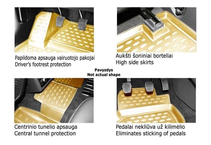 Kummimatid 3D LEXUS RX 2015->, 4 pcs. /L41009B /beige