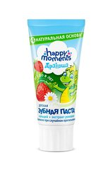 Maasikamaitseline hambapasta lastele Happy moments Draakon 60 ml
