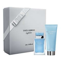 Komplekt Dolce & Gabbana Light Blue Eau Intense: EDP naistele 50 ml + kehakreem 100 ml