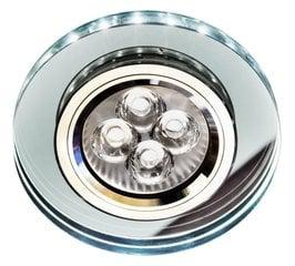 Süvistatav valgusti Candellux SS-23, kroom/läbipaistev