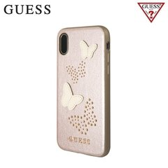 Guess Studs and Sparkle tagus telefonile Apple iPhone X / iPhone 10, roosa/kuldne