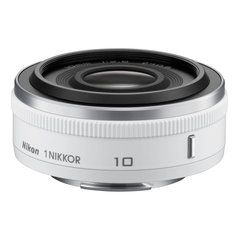 Objektiiv Nikon 1 Nikkor 10mm f/2.8, Valge