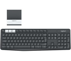 LOGITECH K375s Multi-Device Wireless Keyboard and Stand Combo - GRAPHITE/OFFWHITE - 2.4GHZ/BT (US) INTNL