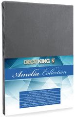 Kummiga voodilina DecoKing Jersey Amelia Collection, 120x200 cm, grafiit