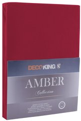 Kummiga voodilina DecoKing jersey Amber Maroon, 120x200 cm