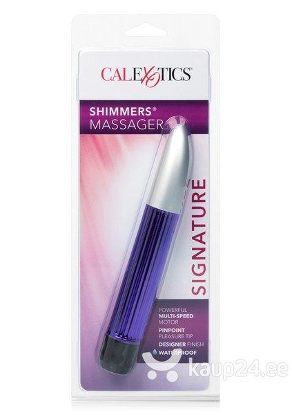 Vibraator Shimmers massager, lilla