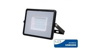 30W LED prožektor V-TAC, 6400K, IP65, must, LED SAMSUNG diood