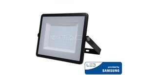100W LED prožektor V-TAC, 3000K, must, IP65, LED SAMSUNG diood