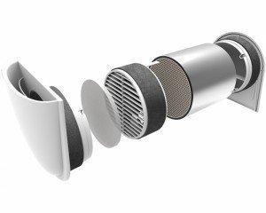 Mini rekuperaator GetAir SmartFan SF100005 + 700 mm toru