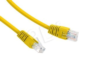 "Gembird PP12-0.5M/Y Yellow Patch cord cat 5E molded strain relief 50u"" plugs, 0.5 m"