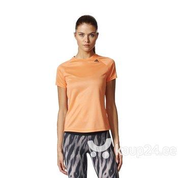 Naiste spordipluus Adidas D2M Tee ose BS1921, oranž