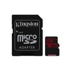 Kingston Canvas React microSDXC 64GB hind ja info | Kingston Canvas React microSDXC 64GB | kaup24.ee