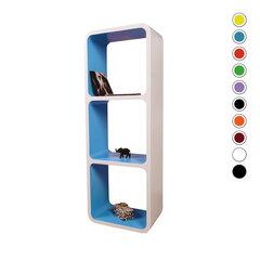 Riiulite komplekt CUBE LO13, valge/sinine hind ja info | Riiulite komplekt CUBE LO13, valge/sinine | kaup24.ee