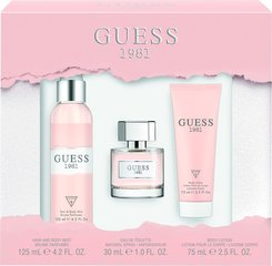 Komplekt Guess Guess 1981: EDT naistele 30 ml + kehakreem 75 ml + kehasprei 125 ml цена и информация | Духи для женщин | kaup24.ee