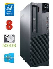 Lauaarvuti Lenovo ThinkCentre M82 SFF i3-3220 8GB 500GB DVD WIN10Pro
