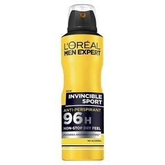 Spreideodorant L'Oreal Paris Men Expert Invincible Sport 96H meestele 150 ml