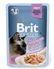 Konserv kassidele BRIT PREMIUM Salmon for Sterilised in Gravy, 85g