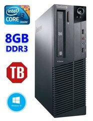 Lauaarvuti Lenovo ThinkCentre M82 SFF i3-3240 8GB 1TB DVD WIN10Pro hind ja info | Lauaarvutid | kaup24.ee