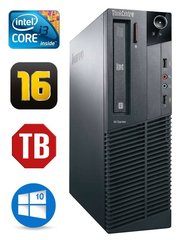 Lauaarvuti Lenovo ThinkCentre M82 SFF i3-3240 16GB 1TB DVD WIN10Pro