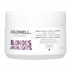 Taastav juuksemask Goldwell Dualsenses Blondes & Highlights 60 sek. 200 ml
