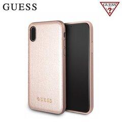 Mobiiltelefoni tagus Guess Iridescent, sobib iPhone X telefonile, roosa/kuldne