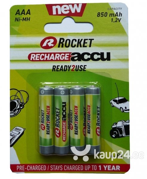 Rocket Ready2Use 850mAh AAA aku, 4 tk