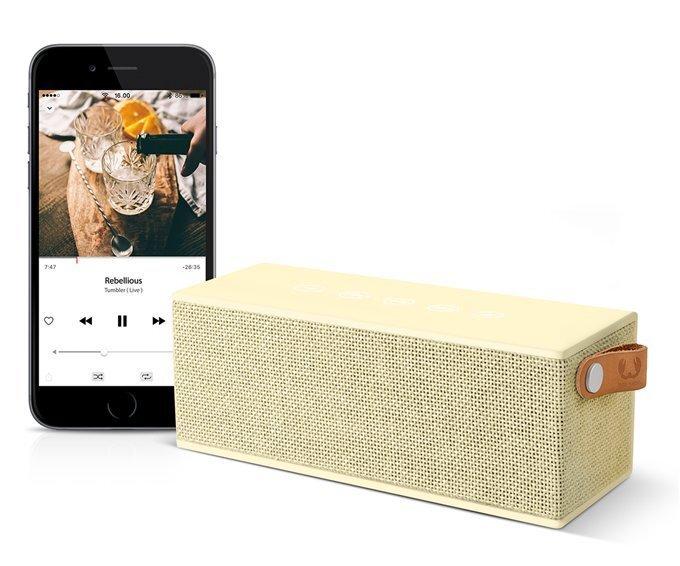 Bluetooth аудио динамик  Fresh'N Rebel Rockbox Brick, светло-желтый интернет-магазин