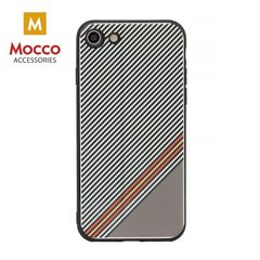 Kaitseümbris Mocco Trendy Grid And Stripes Silicone Back Case Apple iPhone 7 Plus / 8 Plus White (Pattern 1)