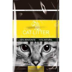 Бентонитовый наполнитель с запахом лимона для кошачьих туалетов Tiger Pet, 10 л